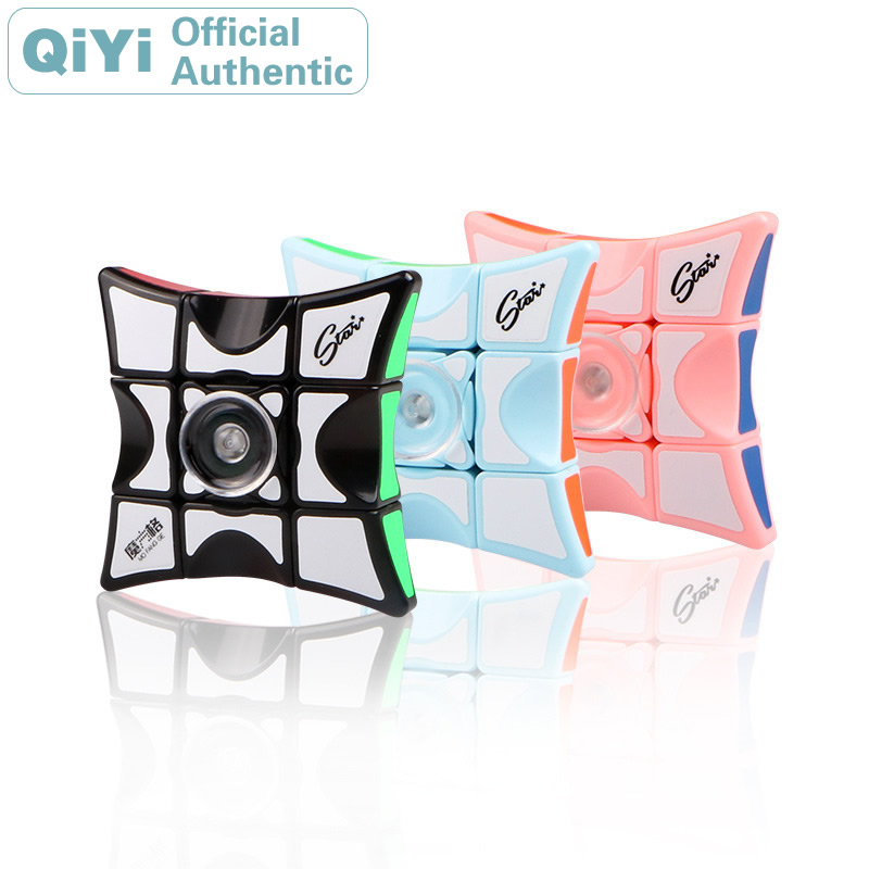 QiYi Puzzle 1x3x3 Magic Cube MoFangGe XMD Spinner Gyro Finger Floppy 133 NEO Speed Cube Fingertip Games Toy(China)