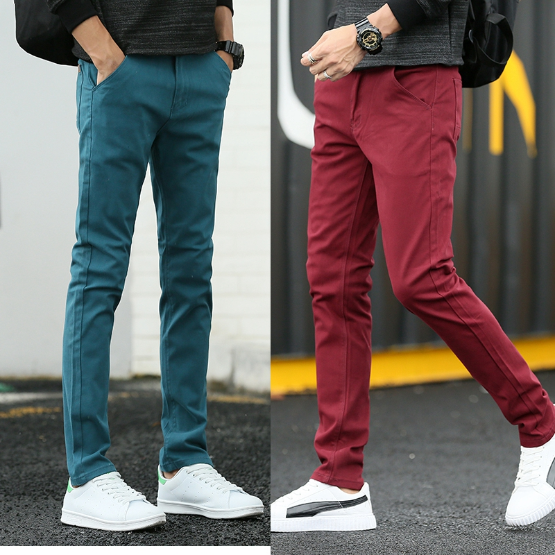 2020 spring Autumn Men, Casual Simple style Pants, Elastic Cotton jeans Trousers 1