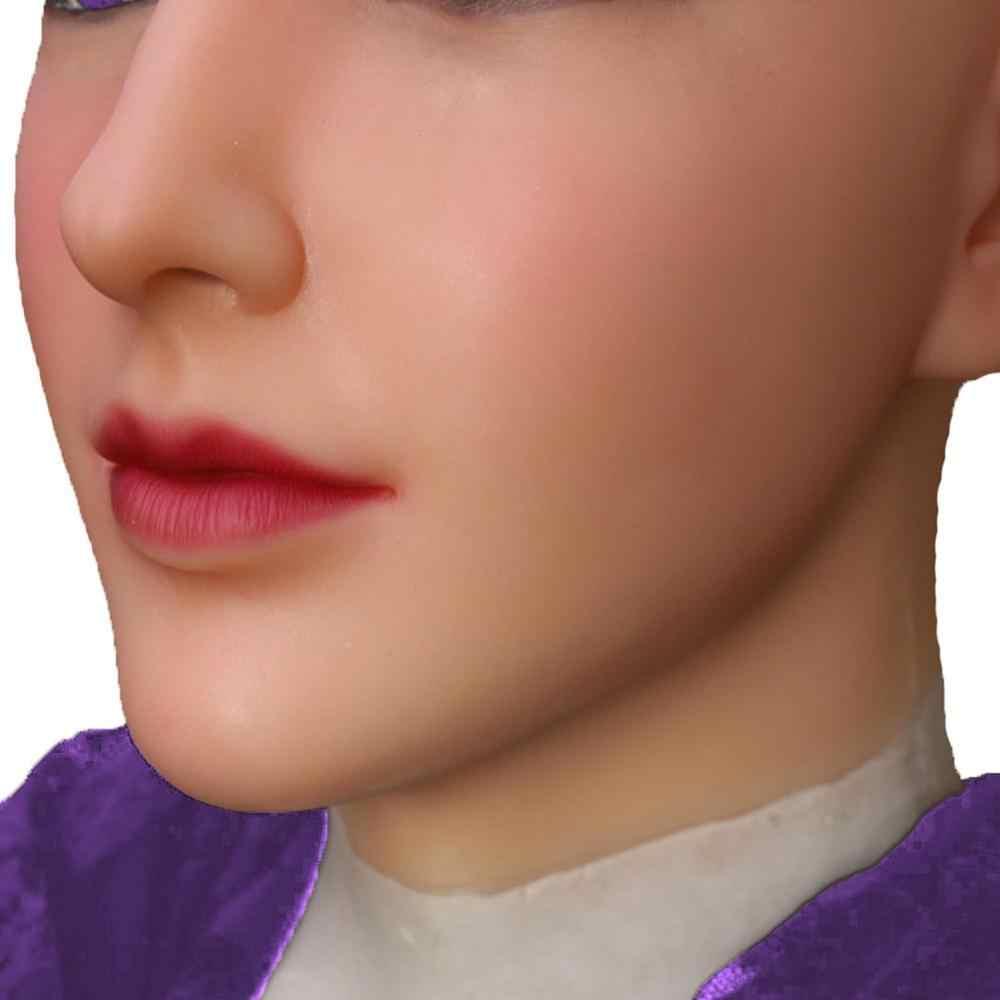 Dokier Crossdressing Transgender Molle Del Silicone Testa Viso Oggetti di Scena per il Crossdresser Travestiti di Halloween Cosplay Maschio a Femmina