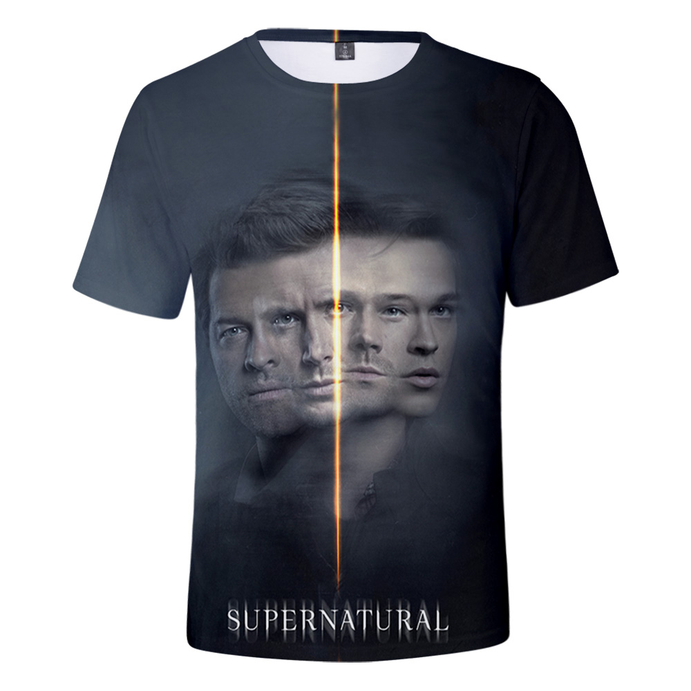 2021 TV Series Supernatural Season 15 Sam and Dean 3D Print T-shirt Men/Women Summer Casual Short Sleeve T Shirt Clothes
