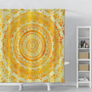 цена на Indian Mandala Shower Curtain Set Waterproof Shower Curtain With Hooks For Bathroom Polyester Fabric Bathroom Shower Curtain Set