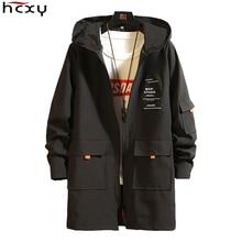HCXY Men's Jackets 2019 Elegant Man Coats Men's Windbreaker Windcheaters Male Yellow Long Coat Men H
