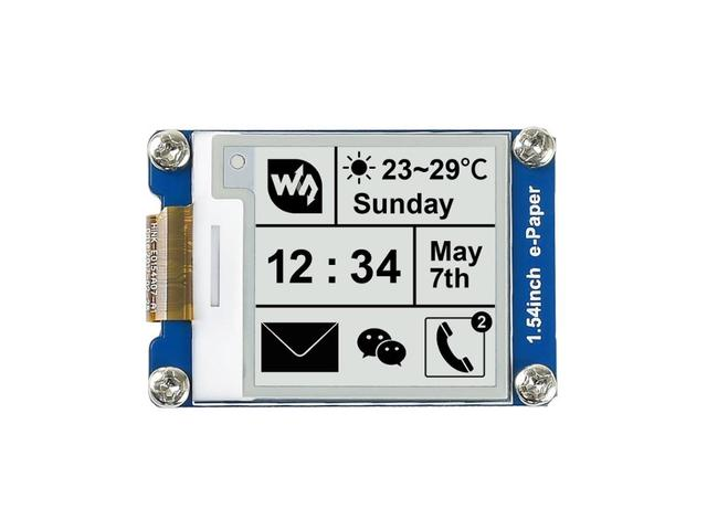 Waveshare1.54inch e Paper/E Ink display 200x200,SPI interface for Raspberry Pi etc.Two Display color:black,white,partial refresh