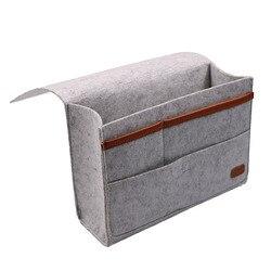 Filcowa nocna torba do przechowywania Caddy falbanka na ramę łóżka do przechowywania organizer kieszeniowy do sypialni  pokój w akademiku  pod materacem w Wiszące organizery od Dom i ogród na