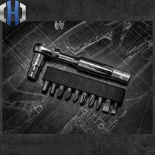 L1 Ratchet Wrench Screwdriver Set 1/4 Positive And Negative Mini Dual-purpose Combination Wrench EDC Tools t type ratchet wrench tap hinge hand tapping wrench 8512 may contain both positive and negative regulator extended