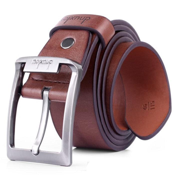 Men's Belt Leather Belt Male Pin Buckle Cow Genuine Leather Belts For Men 125cm High Quality Mens Belt Buckles Vintage For Jeans