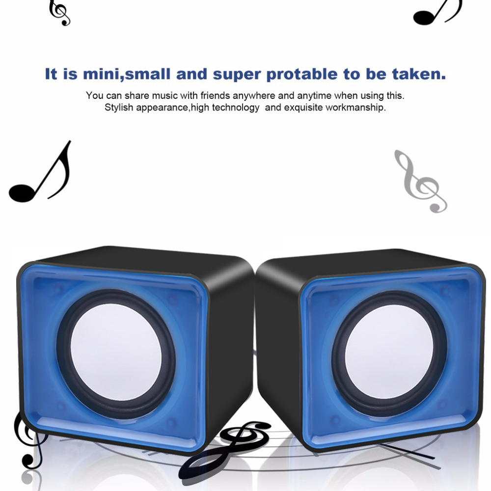 KEBIDU Portable Mini USB 2.0 speakers Music Stereo for computer Desktop PC Laptop Notebook Home Theater Party Loudspeaker(China)