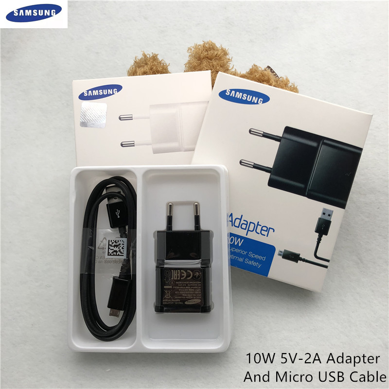Оригинальное зарядное устройство Samsung Galaxy USB ЕС 5 в 2 а настенный адаптер 1 м/1,5 м кабель Micro Usb Для S4 S6 S7 Edge j7 j5 j4 j3 A8 A9 2018 коробка