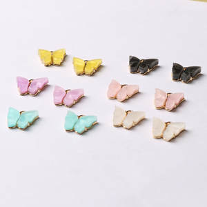 Animal-Pendant Bracelet Necklace Handmade Jewelry Acrylic Charms Butterfly-Setting Trendy-Alloy