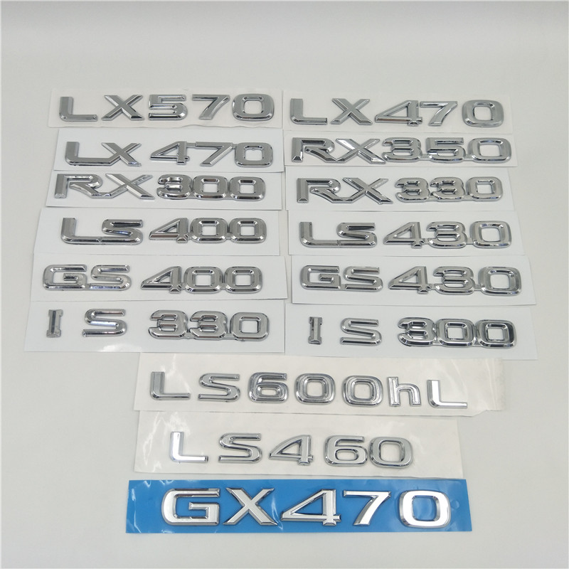 For <font><b>Lexus</b></font> LX470 LX570 GX470 RX300 RX330 <font><b>RX350</b></font> LS400 LS430 IS300 IS330 GS430 Emblem Number Letter Rear Trunk Tailgate Logo image