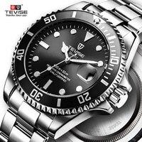 חם 2019 חדש Tevise גברים קוורץ שעון אוטומטי תאריך ספורט שעונים אופנה יוקרה מפורסם עיצוב זכר שעון Relogio Masculino