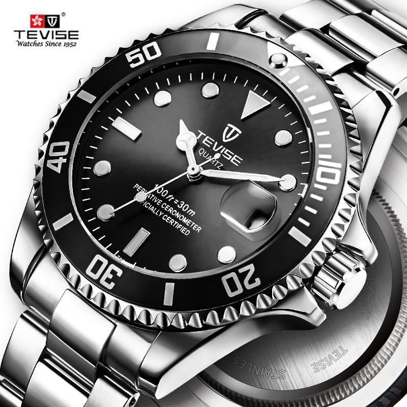 Heißer 2019 Neue Tevise Männer Quarzuhr Automatische Datum Sport Uhren Mode Luxus Berühmte design Männlichen Uhr Relogio Masculino