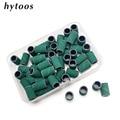 HYTOOS 50 шт. зеленый шлифовка бандажей без оправки электрическое сверло для ногтей для удаления геля для ногтей уход, полировка инструмент