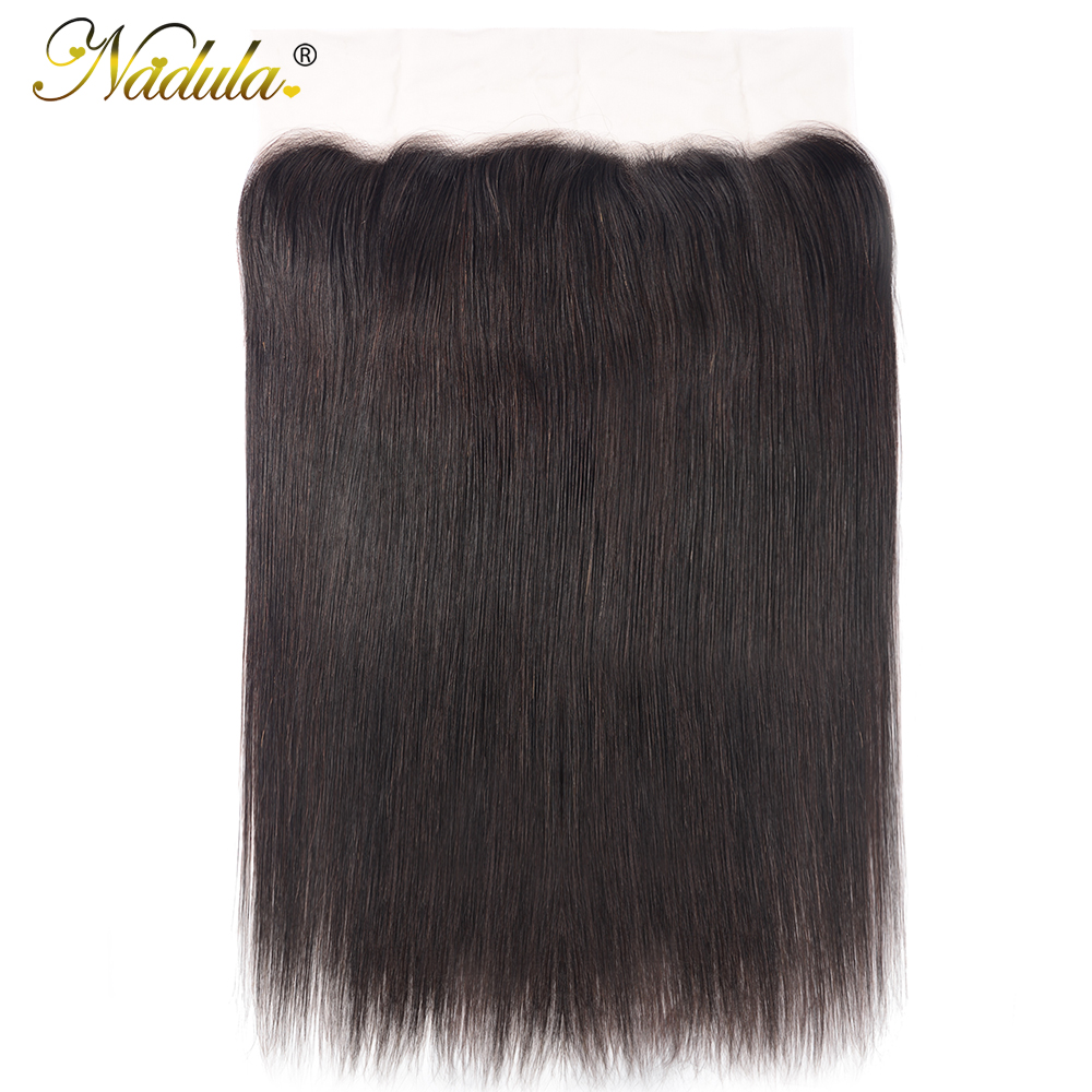 Nadula Hair 13x4 Lace Frontal Closure With Baby Hair  Straight Hair Frontal Pre Plucked ear to ear  100%  2