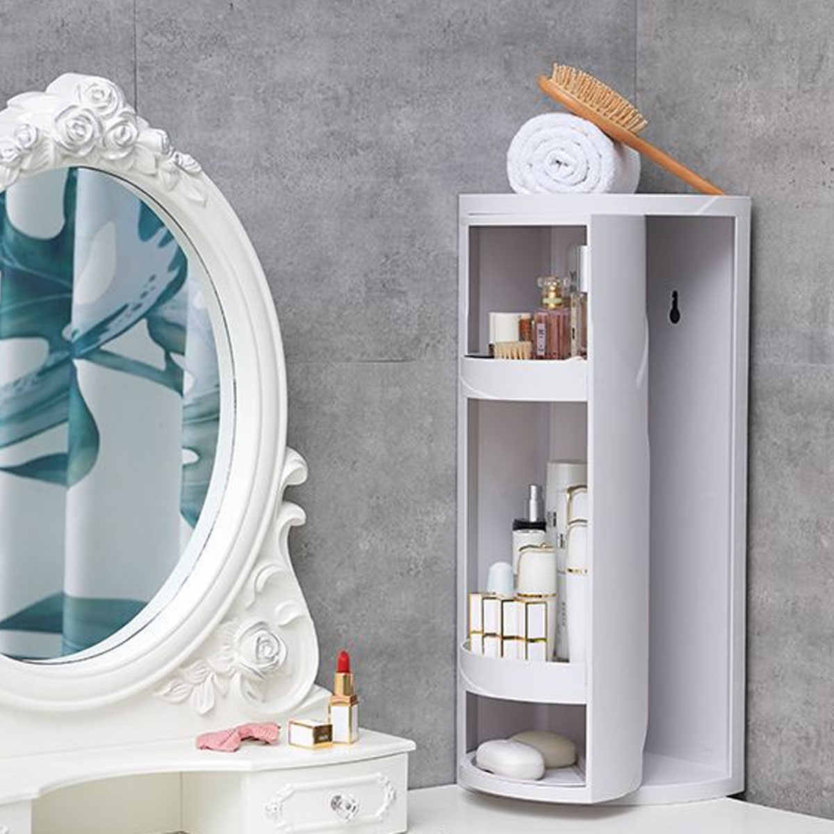 2 Colors 2 Sizes Multi Functional Toilet Storage Shelf 360 Degrees Rotating Bathroom Corner Storage Rack Cabinet Aliexpress