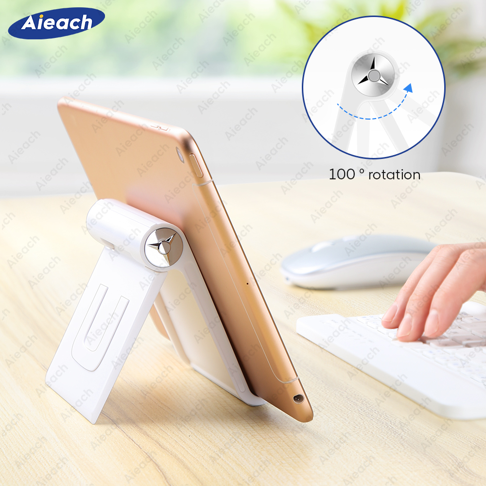 Aieach For IPad Pro Stand 7.9 To 11 Inch Folding Adjustable Angle Tablet Holder For Huawei Samsung Xiaomi Tablet Desktop Stand
