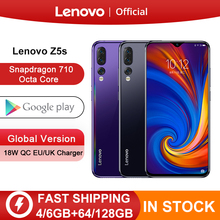 Globale Version Lenovo Z5s Snapdragon 710 Octa Core 6GB 64GB 128GB Handy 6,3 inch Android P triple Hinten Kamera Smartphone