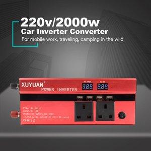XUYUAN 2000 Вт автомобильный инвертор постоянного тока 12 В переменного тока 220 В конвертер USB зарядное устройство адаптер Портативный Авто модиф...