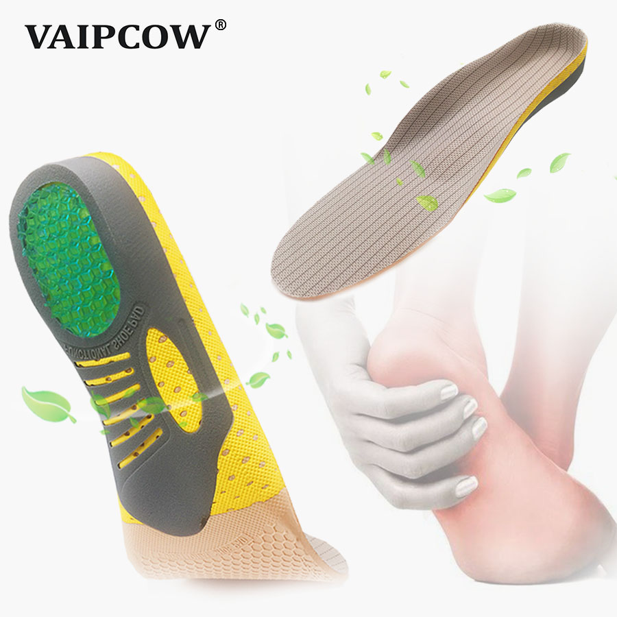 VAIPCOW PVC Orthopedic Insoles Orthotics Insole For Flat Foot 3D Arch Support Health Sole Pad For Plantar Fasciitis Feet Care