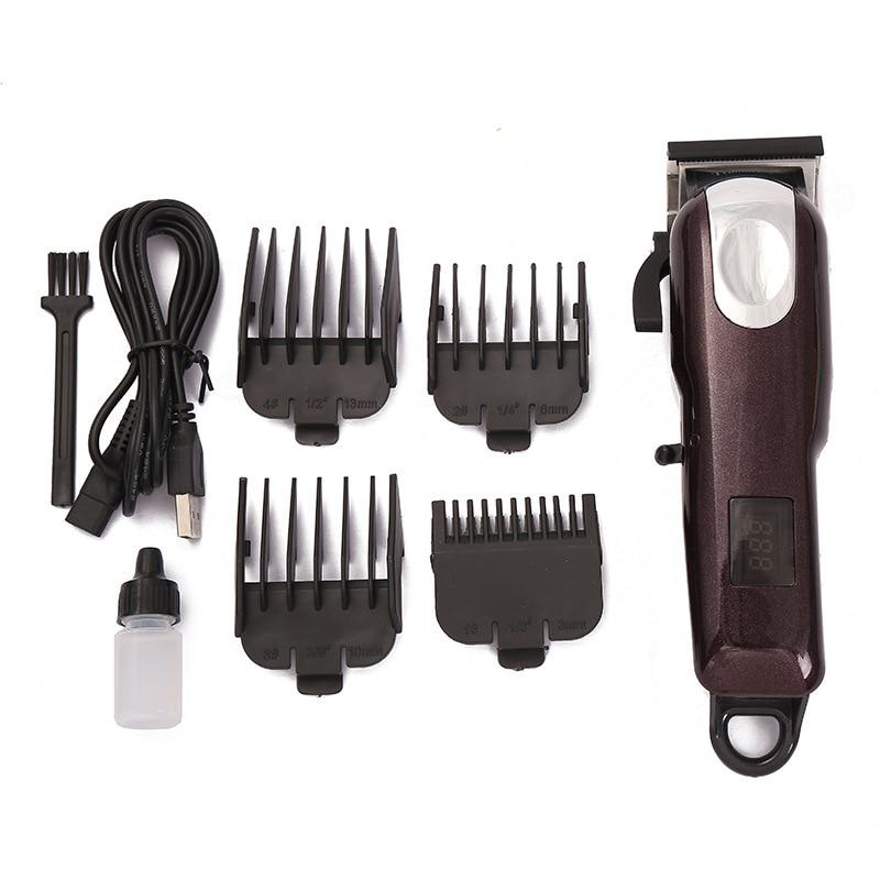 Electrical Clippers Haircuts Machine Lcd Digital Display Barber Salon Professional Hairdresser High Power Hair Trimmer Men Beard