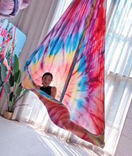 Yeni 16m Ombre hava ipek yüksek kaliteli Gradational renk Yoga anti yerçekimi ev eğitimi için spor trapez