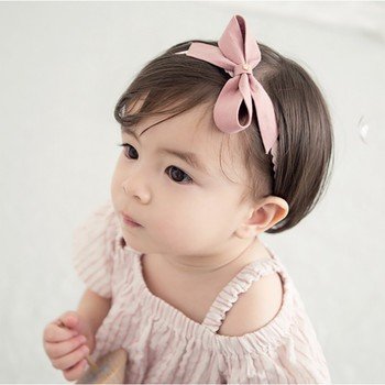 infant Baby Girls Headband Fashion Bow Knot Infant GIrl Bandage Kids Toddlers Head Wrap Hair Band Infant Clothes Accessories