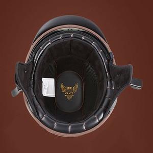 Image 4 - Винтажный мотоциклетный шлем GXT в стиле ретро, мотоциклетный шлем с открытым лицом для скутера, мотоциклетного гоночного шлема с сертификацией DOT