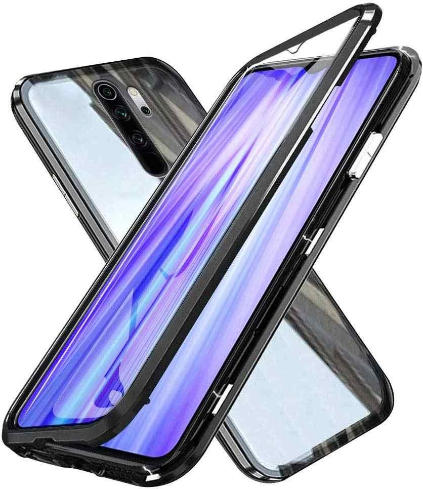 360 pełne szkło hartowane etui na xiaomi RedMi Note 8 Pro 7 8A K20 Case magnetyczna adsorpcja metalowy zderzak aluminiowy Flip Fundas