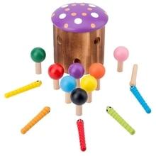Детские деревянные строительные блоки, обучающие игрушки для детей, детская игра для интеллектуального соответствия, Когнитивная сортировочная игрушка из дерева
