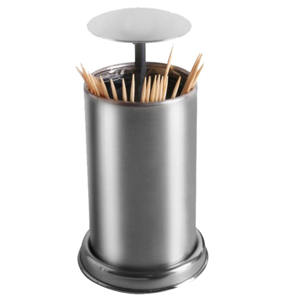 Automatic Stainless Steel Toothpick Holder Hotel Restaurant Cotton Swab Box Support Dropshipping Toothpick Holders Aliexpress