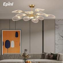 Современный потолочный светильник Epinl, креативный медный светильник для спальни, теплый потолочный светильник, скандинавский светильник, п...