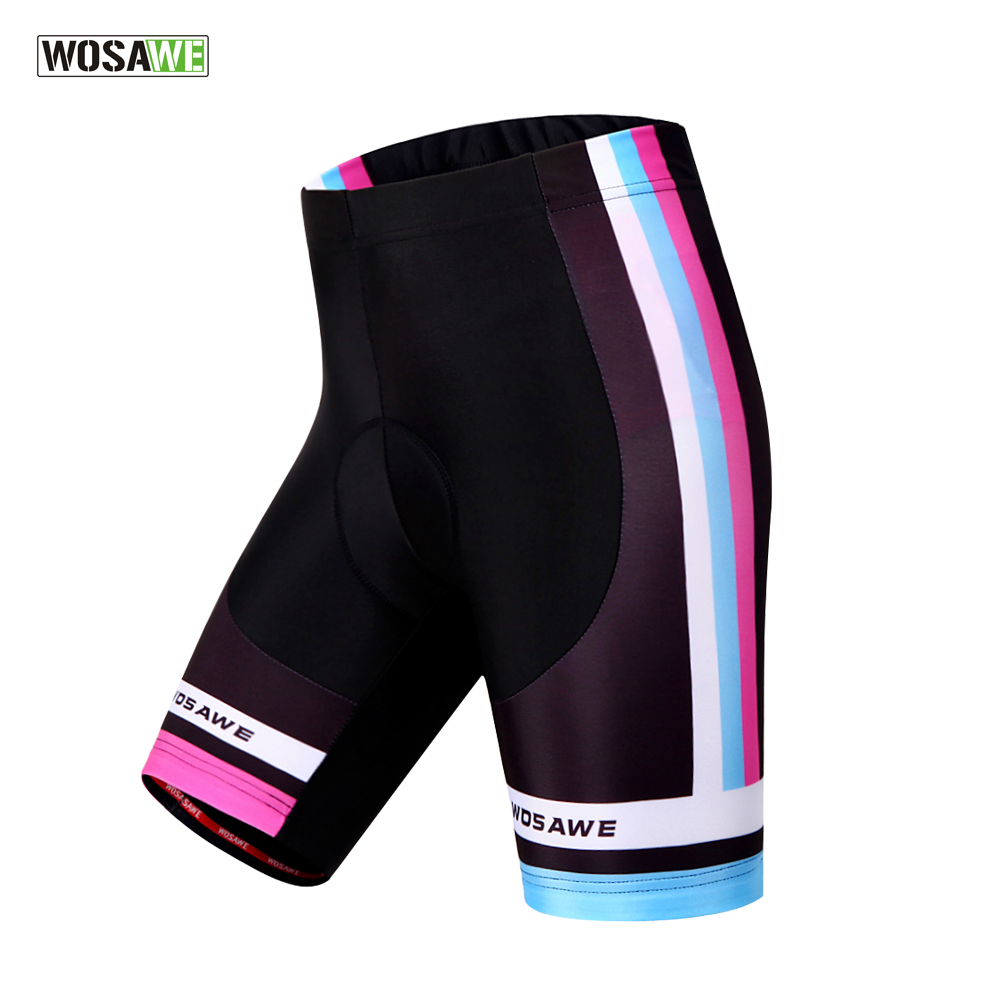 WOSAWE Women Cycling Shorts Silica Gel Padded Shockproof MTB Mountain Bike Shorts Underwear Underpants Ropa Ciclismo Tights