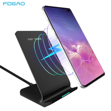 FDGAO 10W QI Draadloze Oplader Quick Charge Stand Dock Snel Opladen voor iPhone XS Max XR 8X11 pro Airpods Samsung S10 S9 S8 S7