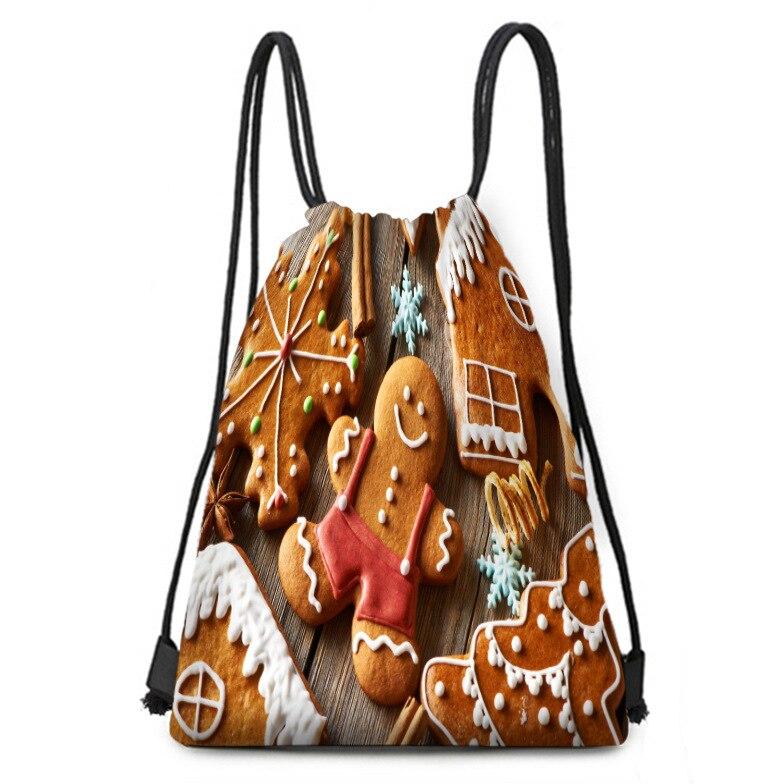 Christmas Backpack Christmas Candy Biscuit House Bundle Bag Backpack Gift Bag