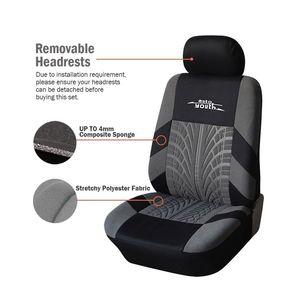 Image 2 - AUTOYOUTH 3 צבע מסלול פירוט סגנון רכב מושב מכסה סט פוליאסטר בד אוניברסלי מתאים ביותר מכוניות מכסה מכונית מושב מגן