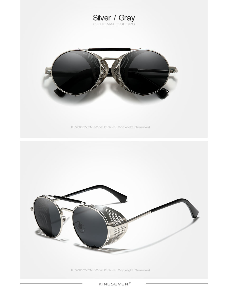 H61be250d45904a28892024cb797b4d91F Genuine GIFTINGER Retro Round Steampunk Sunglasses Men Retro Women Sun Glasses Shades Vintage Travel Eyewear Gafas De Sol 7550