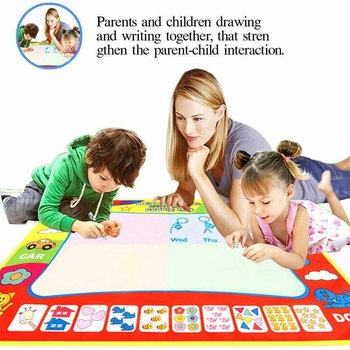 60cm x 80cm Kids Doodle Mat Magic Water Drawing Cloth With Doodle Painting Pen Mat For Children Early Education Drawing Toy 80x60cm water drawing mat