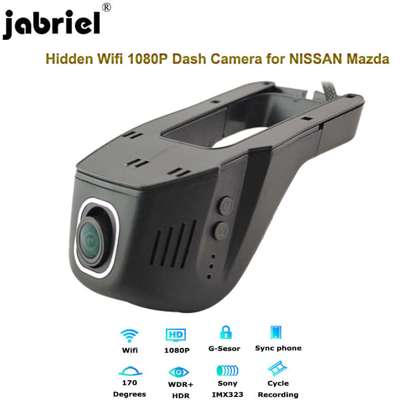 Jabriel 1080P car dvr dash cam 24 hour video recorder rear Camera for nissan qashqai j11 j10 juke x trail t32 mazda 3 6 cx-5 cx5