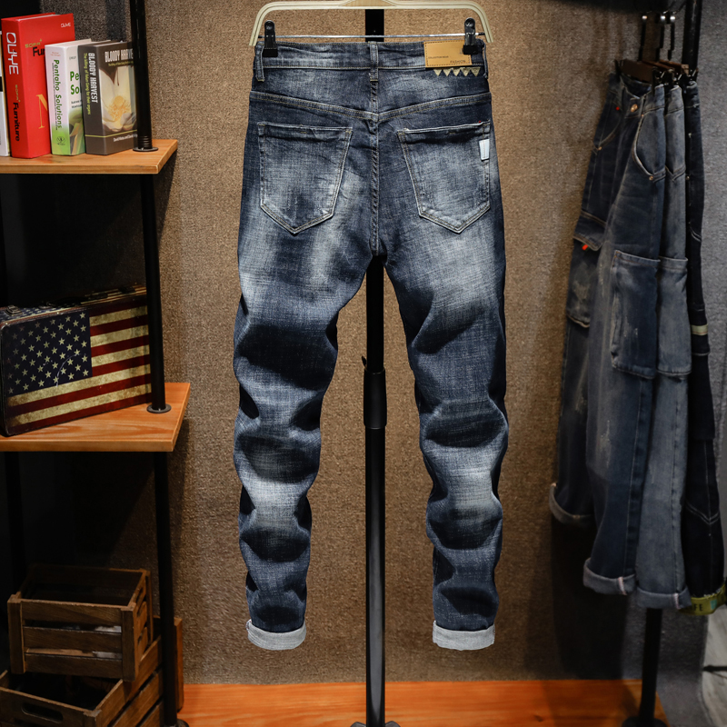 KSTUN Men Jeans Pants Slim Fit Mens Jeans Brand Blue Stretch Thick Casual Denim Pants Fashion Pockets Desingers Male Jeans Homme 12