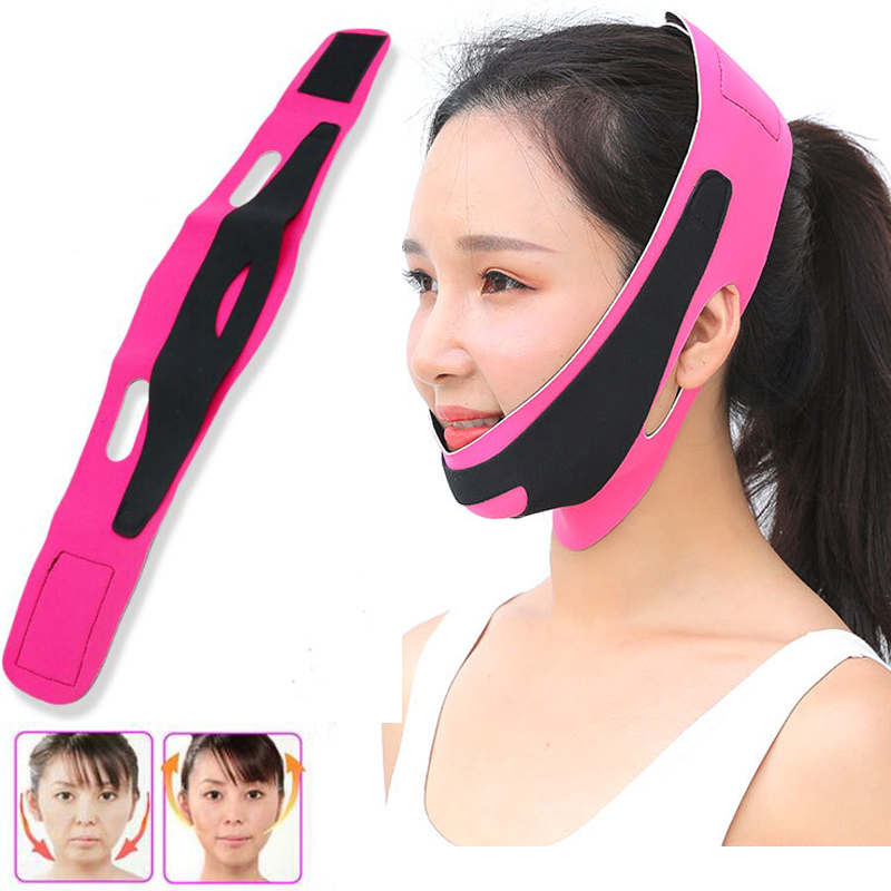 Double Chin Face Bandage Slim Lift Up Anti Wrinkle Mask Strap Band V Face Line Belt Women Slimming Thin Facial Beauty Tool face slimming tool