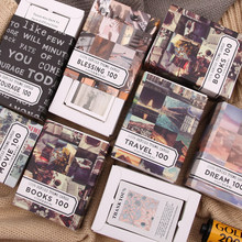 100 unidades/pacote junk journal medieval matchbox escrever almofada de memorando folha solta etiqueta escritório acessório artigos de papelaria material escolar