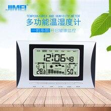 Семейные часы-Метеостанция гигротермограф Настольный будильник часы температура тренд измерения погоды дисплей часы