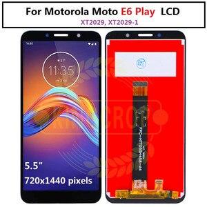 Image 4 - Dla Moto rola Moto E6s LCD E6 Play E6 Plus wyświetlacz ekran dotykowy czujnik digitizer montaż dla moto E6 Plus E6 E6S LCD z ramą