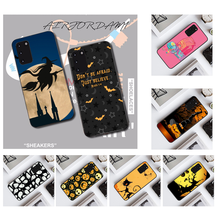 NBDRUICAI Pumpkin Halloween Bat Witch Boo Cell Phone Case for Samsung S20 plus Ultra S6 S7 edge S8 S9 plus S10 5G(China)