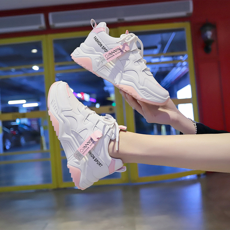 SWONCO Student Shoes White Sneakers For Women Spring New 2020 Female Fashion Wedges Sneakers Platform Casual Sneaker Womans