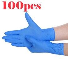 قفازات التفتيش القابل للتصرف واقية قفازات من اللاتكس خالية من مسحوق خدر صناعة التموين المنزلية تنظيف قفازات بلاستيكية 100/صندوق