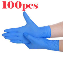 Disposable inspection gloves protective latex gloves powder free numb household catering cleaning industry PVC gloves 100/box