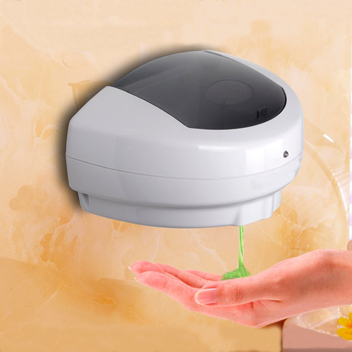 600ml Wall Hung Sensor Soap Dispenser Automatic ABS Wall Mount Sensor Soap Dispenser Hands Free Wash Machine 500ML