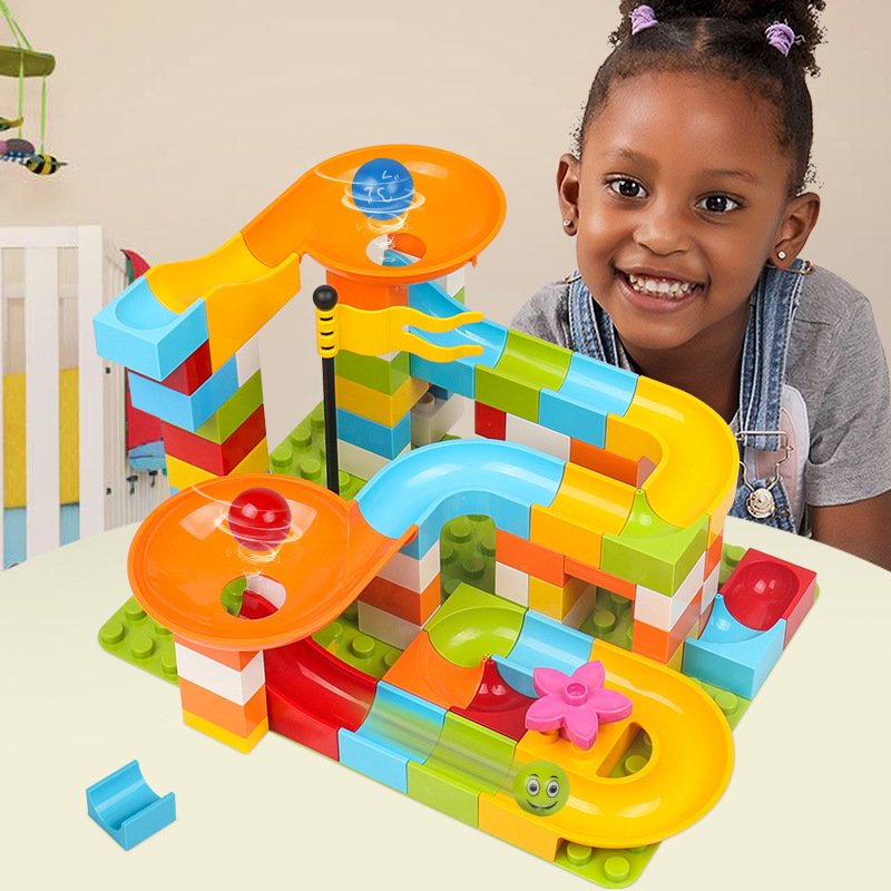 Compatible Lego Building Block Toys Boys 3-6 Years Old Children IQ 4 Slideway Granules Assembly 5 Years Old Girls 7