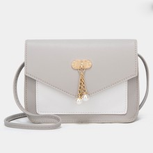 New Arrival Women Vintage Handbags Small Square Solid Color Simple Female Crossbody Bag#D3